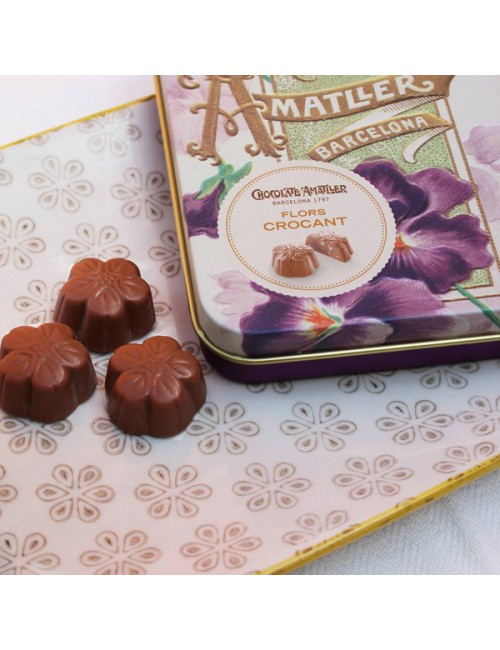 Chocolate Amatller Flores Crocant Lata