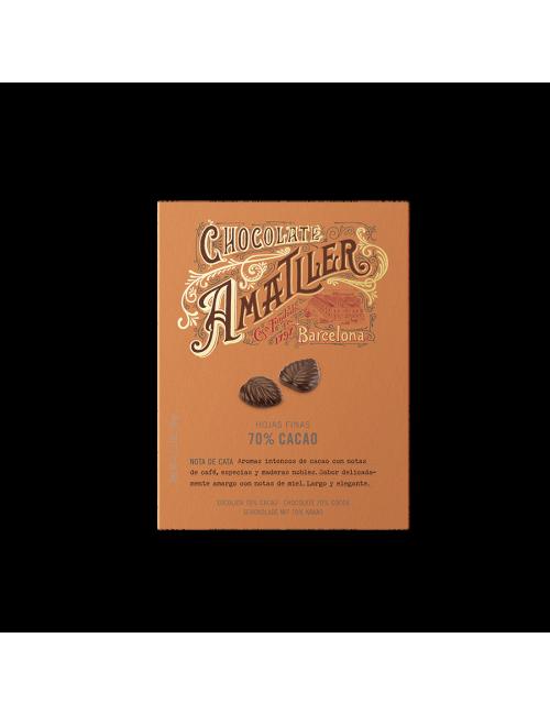 Chocolate Amatller Hojas de chocolate 70% - Sabores únicos