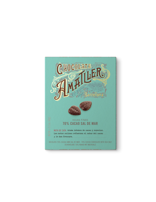 Chocolate Amatller Hojas de chocolate 70% Flor de Sal