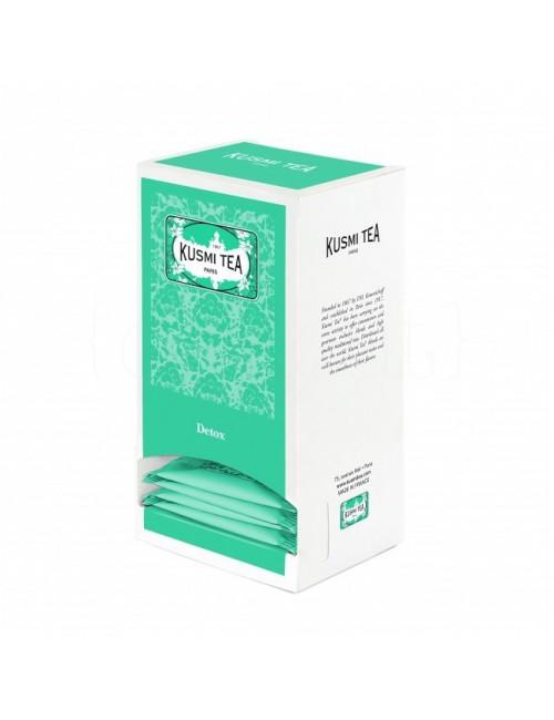 Mate, Té verde y taronjil - Detox 25 Muslins - Kusmi Tea